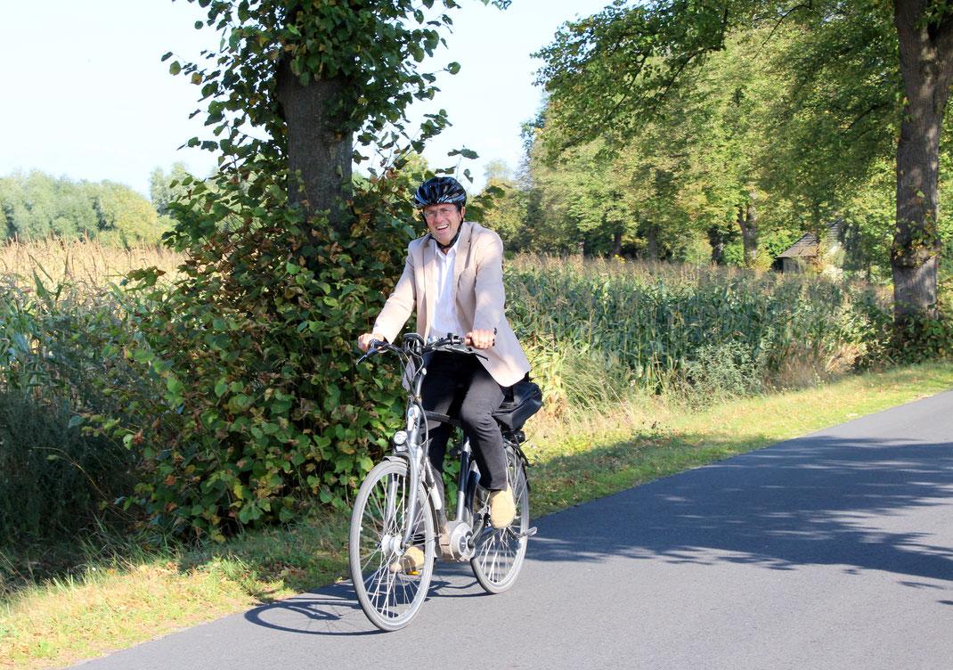 Thomas Marquardt fährt am liebsten mit dem Fahrrad (Foto: Florian Götting)