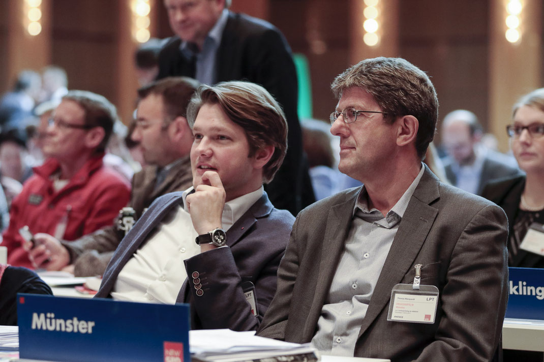 Thomas Marquardt zusammen mit dem Vorsitzenden der SPD Münster, Robert von Olberg. (Foto: Till Leckebusch)