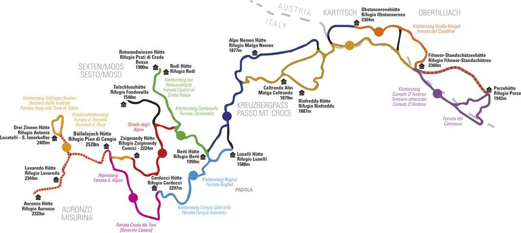 Dolomiten ohne Grenzen –die Touren