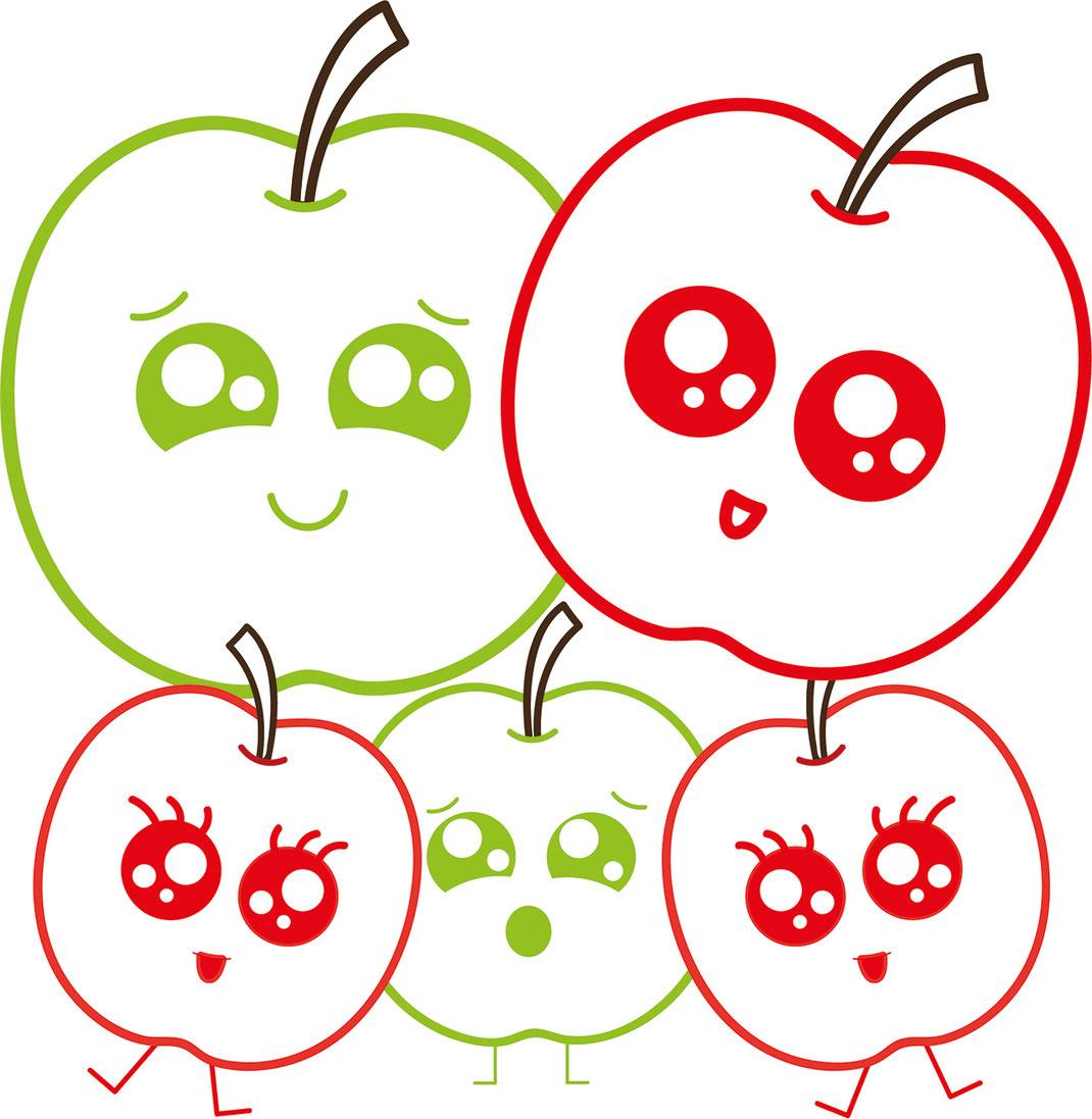 Essen für Kids - Äpfel