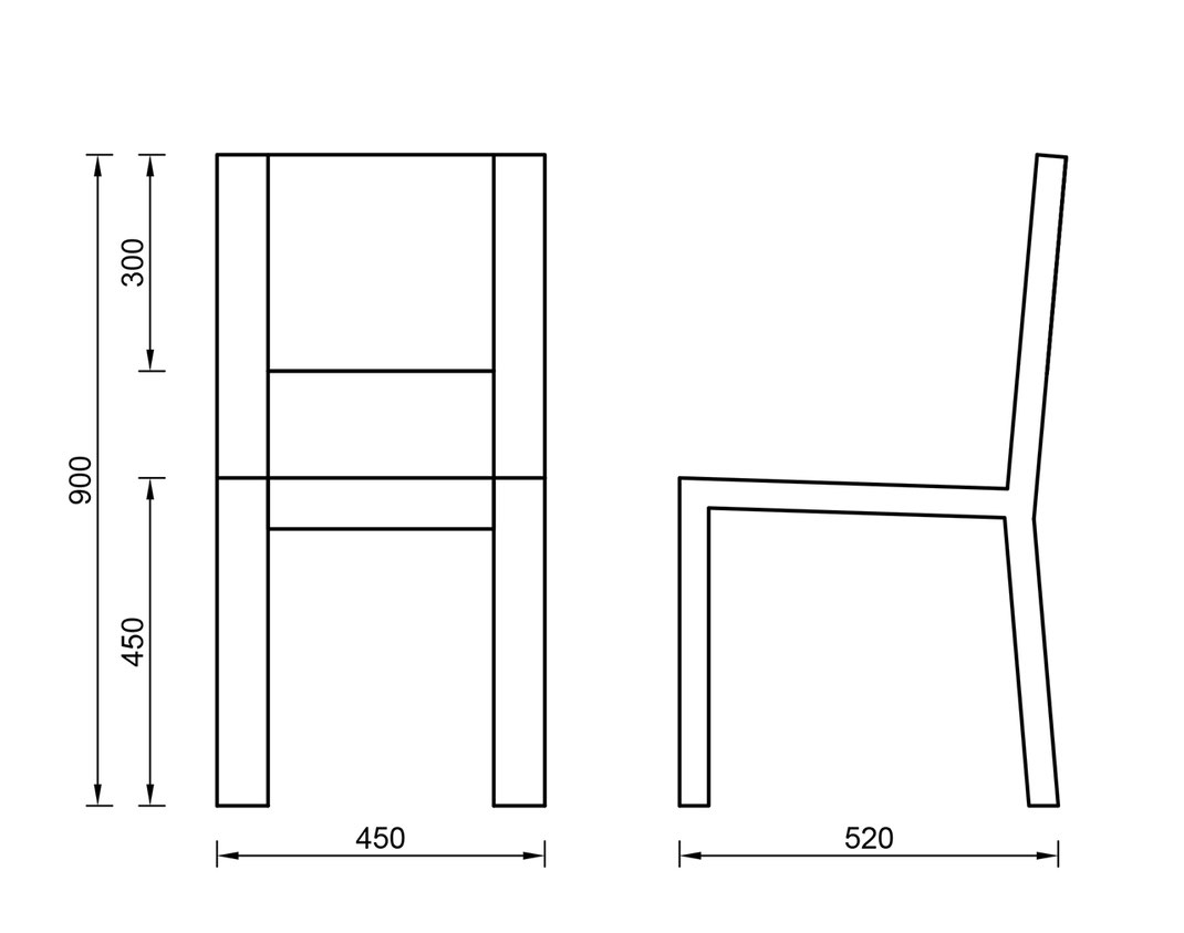 Other Side - Stuhl - Maße