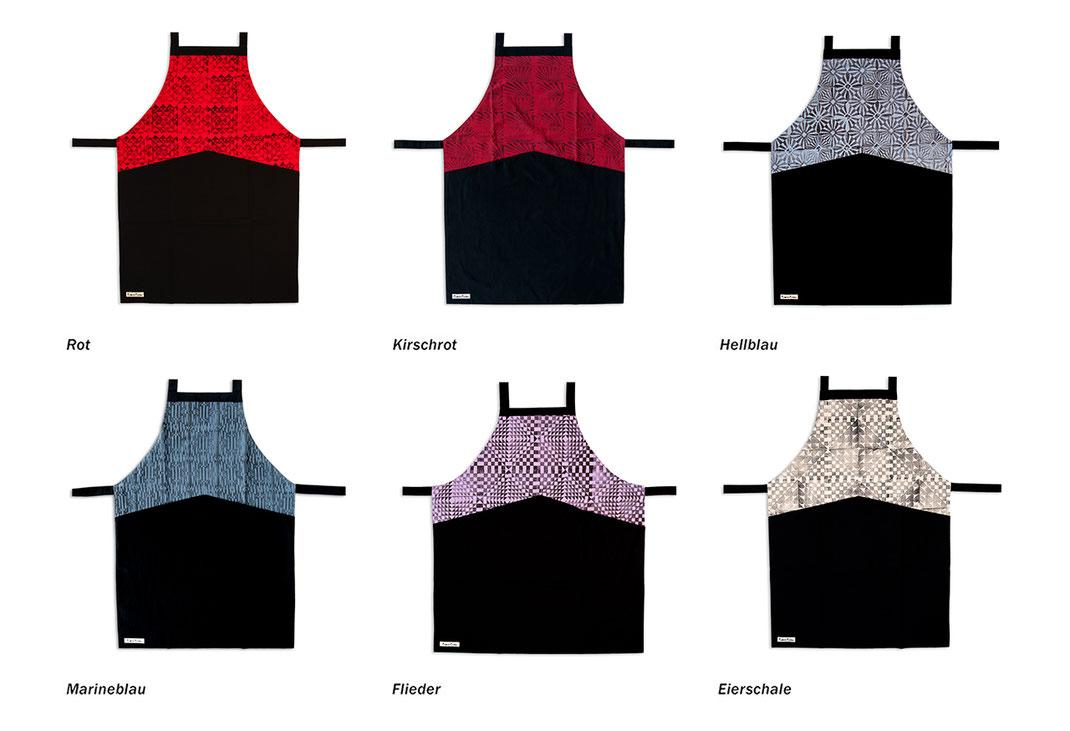 Die unterschiedlichen Farben der Küchenschürze
