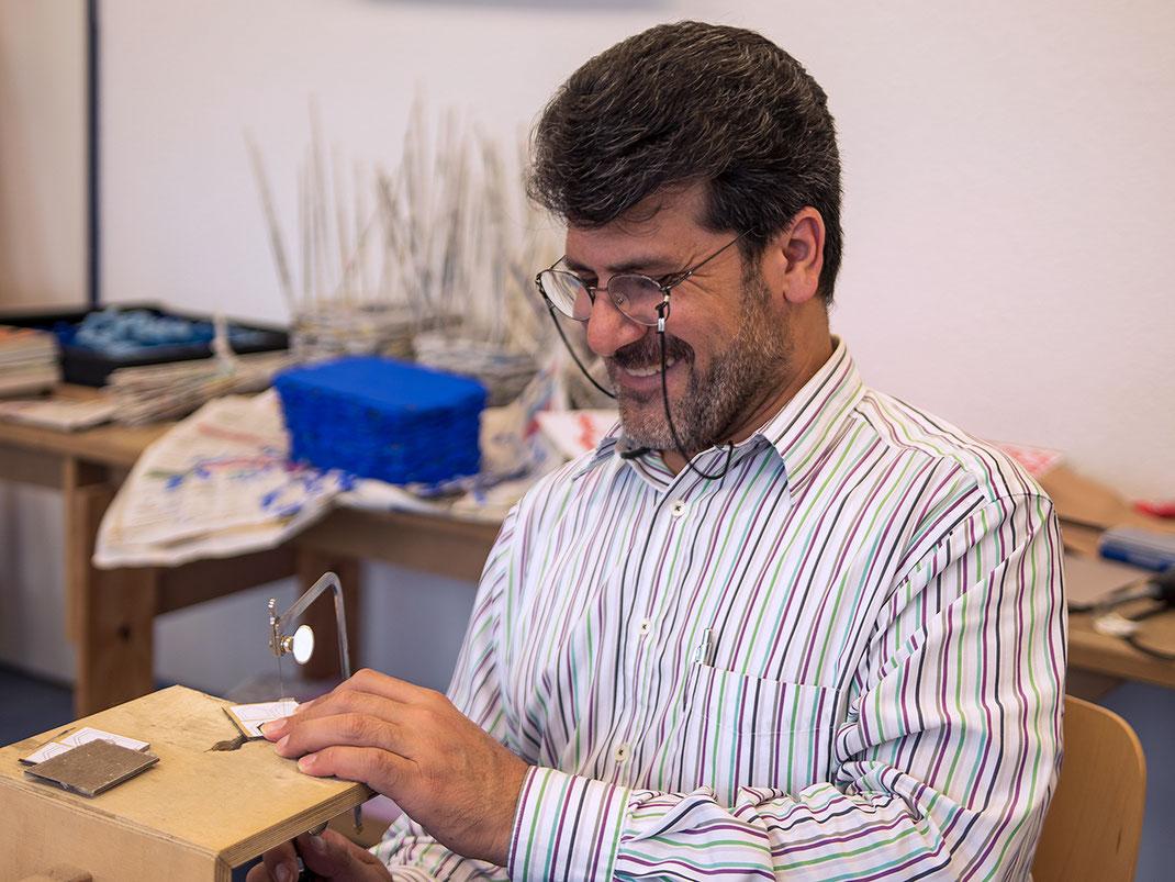 Der Kunsthandwerker Ahmad Tahsin Al Sakha
