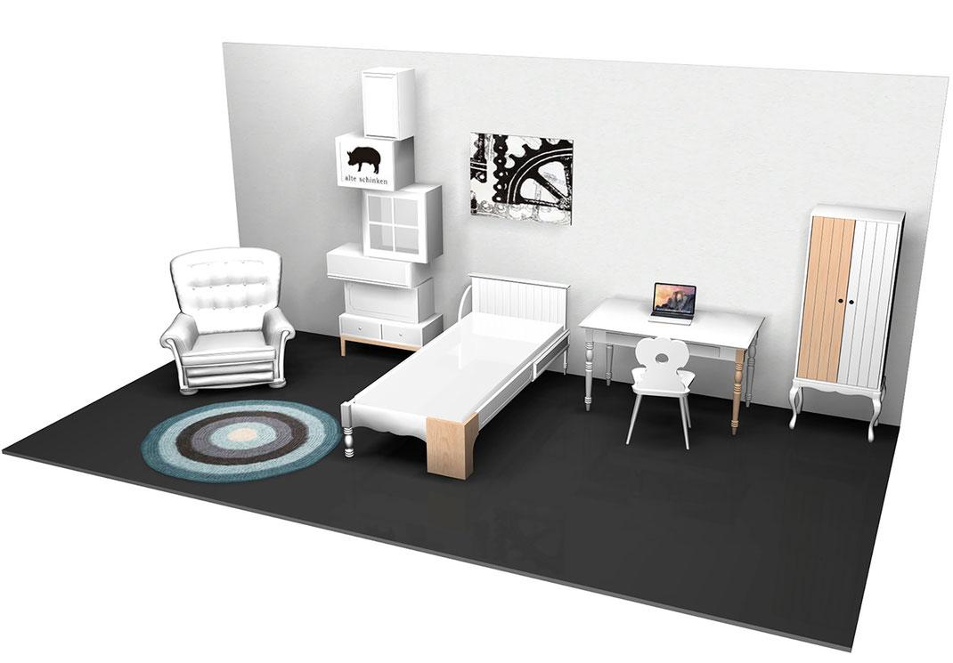 Design Hostel am Niederfeldsee - Entwurf Zimmer