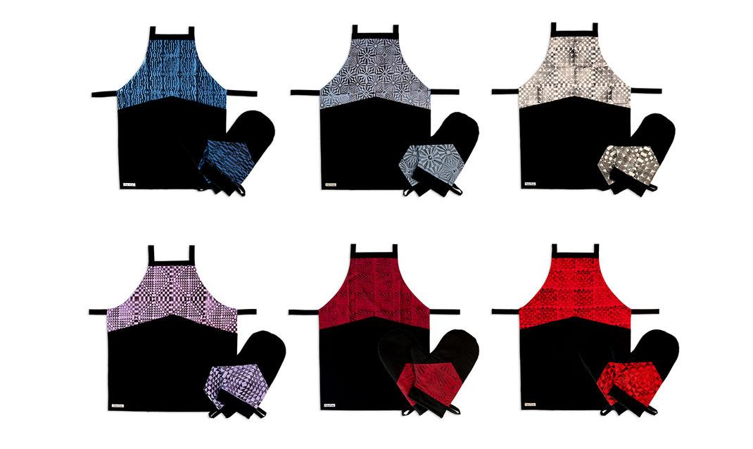 Und hier gibt es die neuen Küchenschürzen und Kochhandschuhe im Onlineshop