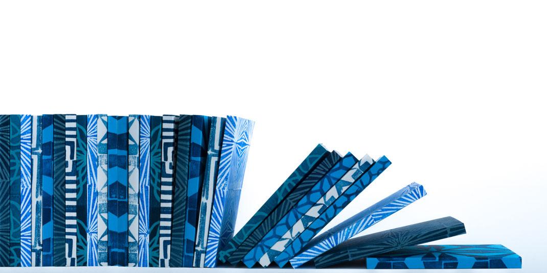 Notizbuch - Klebebindung mit Kartonumschlag