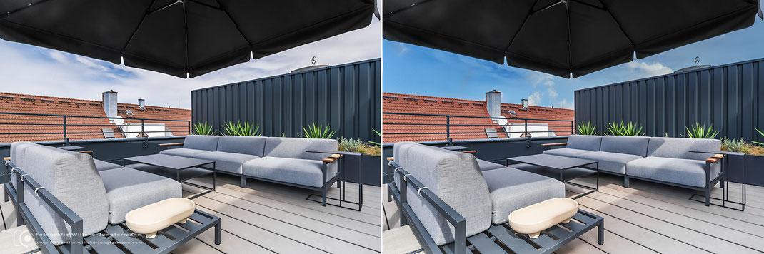 Tipp: Den Himmel in der professionelle Immobilienfotografie ersetzen.