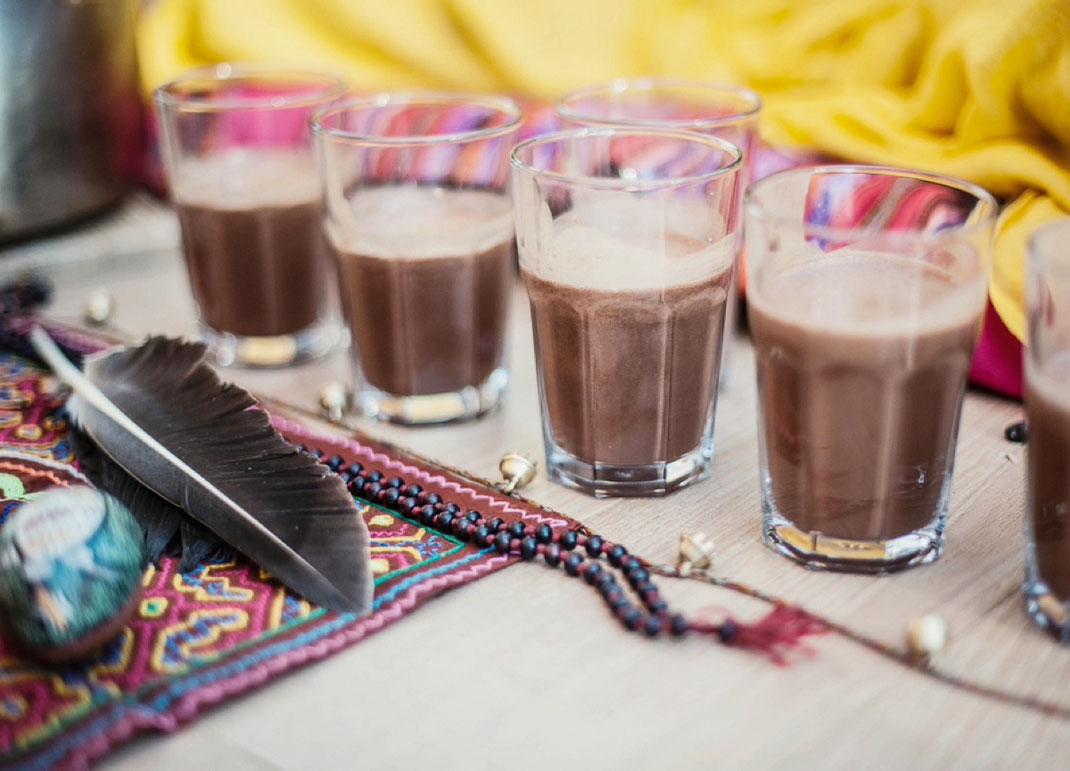 Cacao Mama altar cacao beans