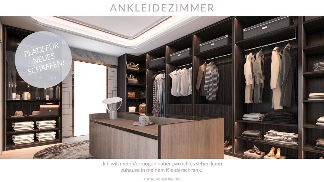 Ankleidezimmer Kleiderschrank Holz Schreinerei Jertz Mainz Innenausbau