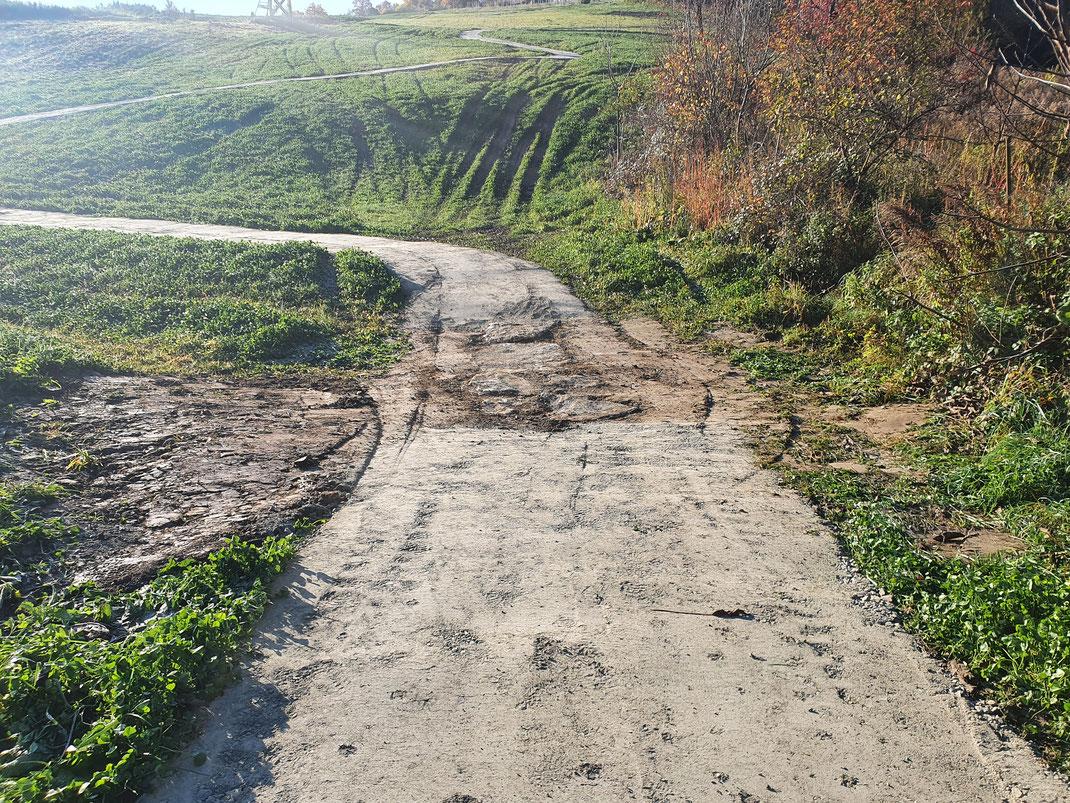 Landschaft mit festem Weg