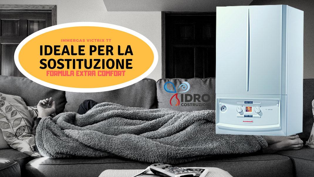 Offerta preventivo Caldaia  a condensazione immergas victrix tt 32 kw in promozione a Torino installazione inclusa