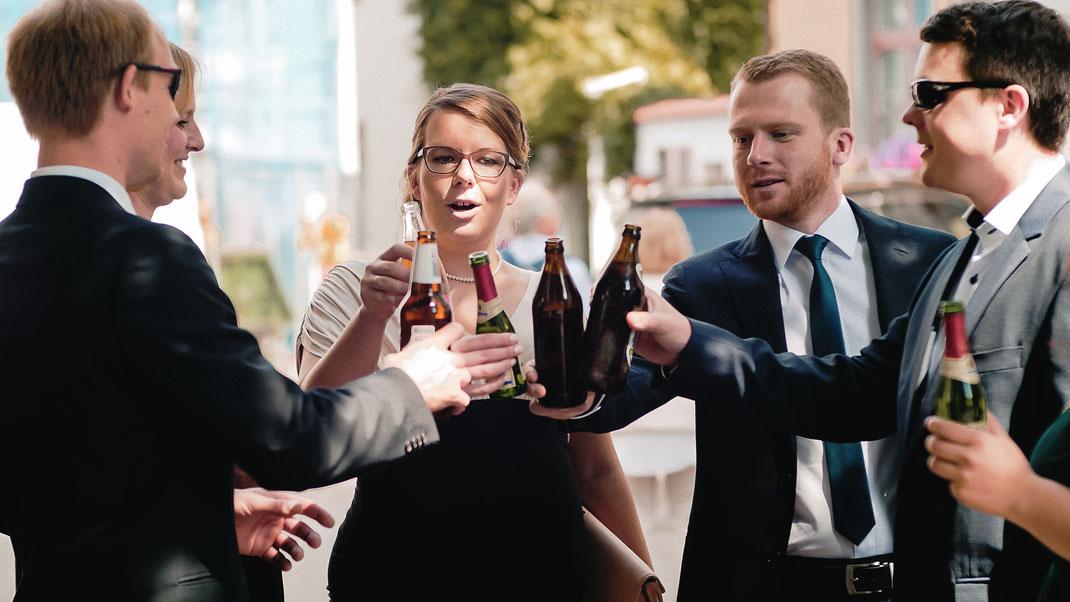 Hochzeitsgesellschaft in Erfurt