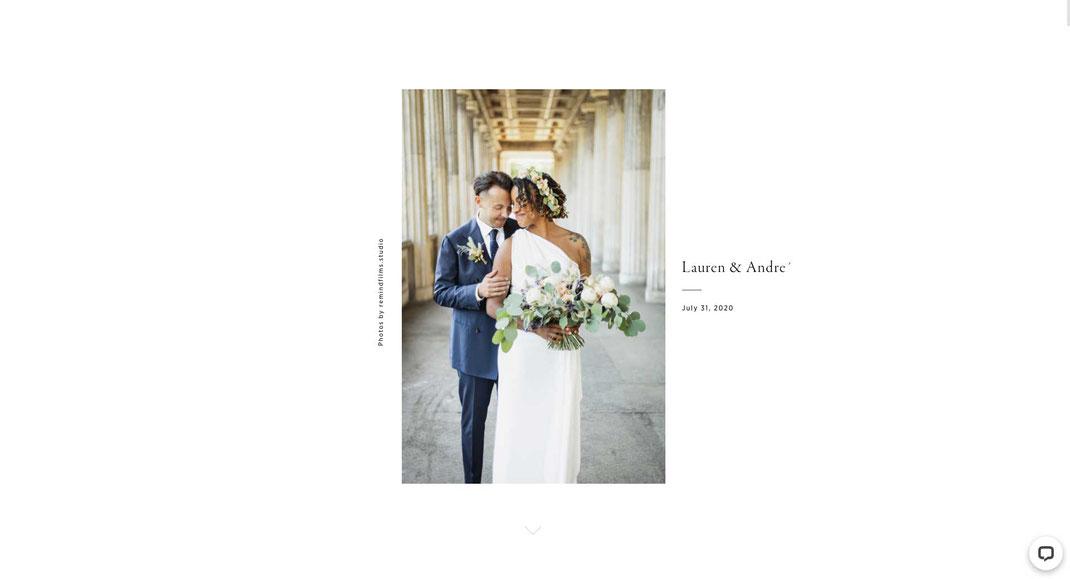 Online Galerie für Hochzeitsfotos