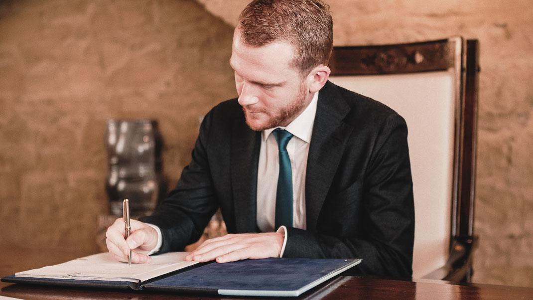 Ehevertrag unterschreiben