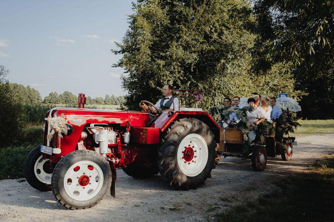 Traktorfahrt Feldscheune Schöbendorf