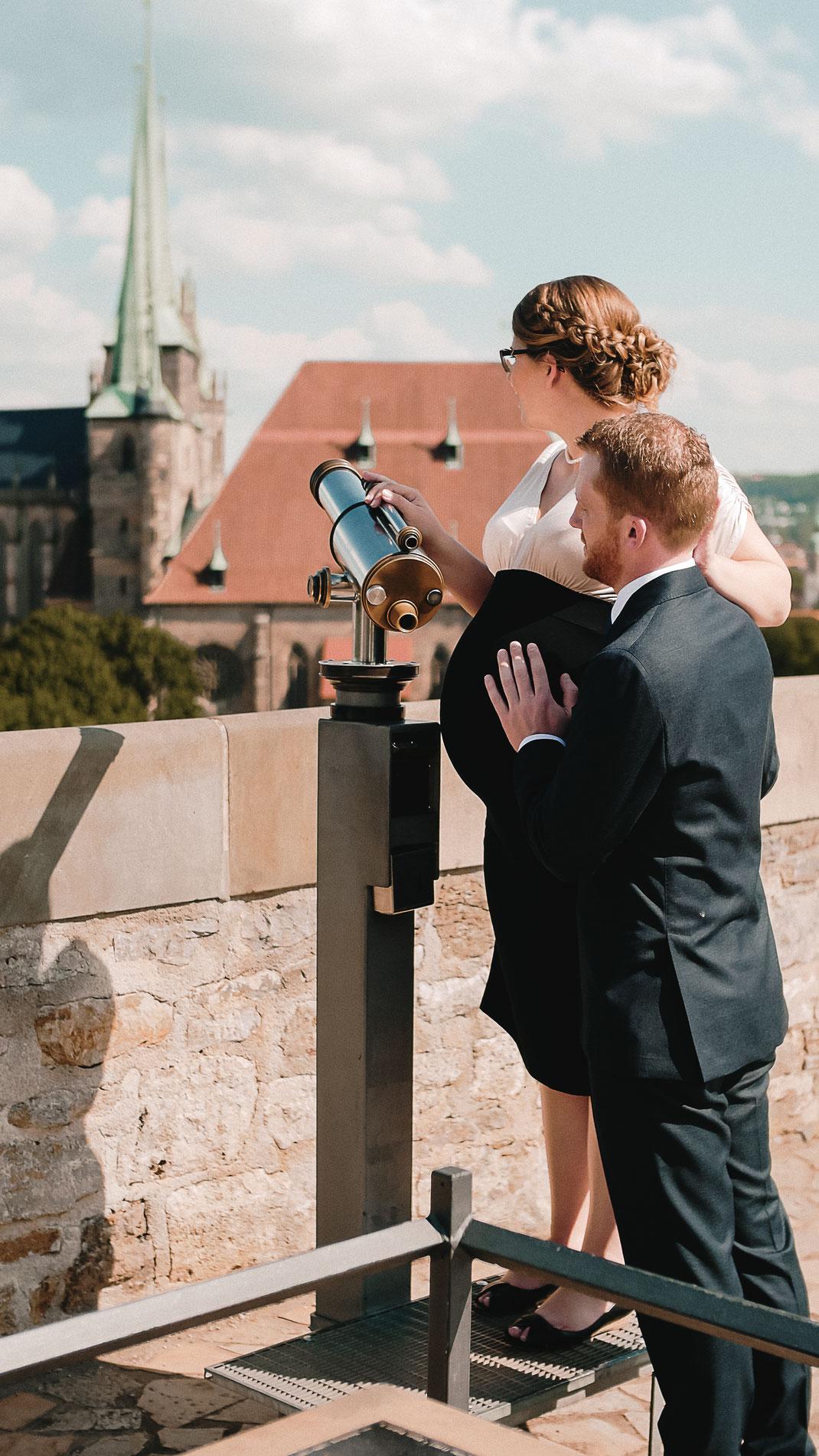 Paarfotos auf dem Petersberg in Erfurt