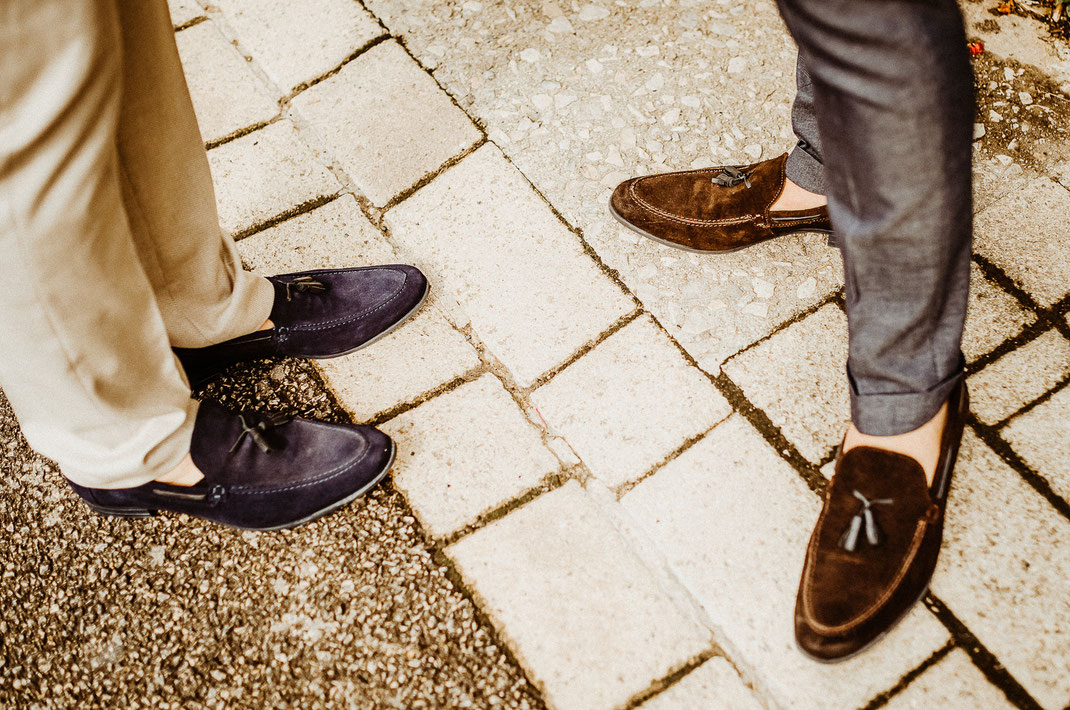 mocassins de mariage