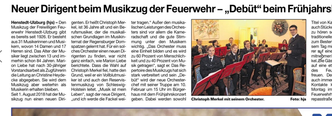 Neuer Dirigent Christoph Merkel