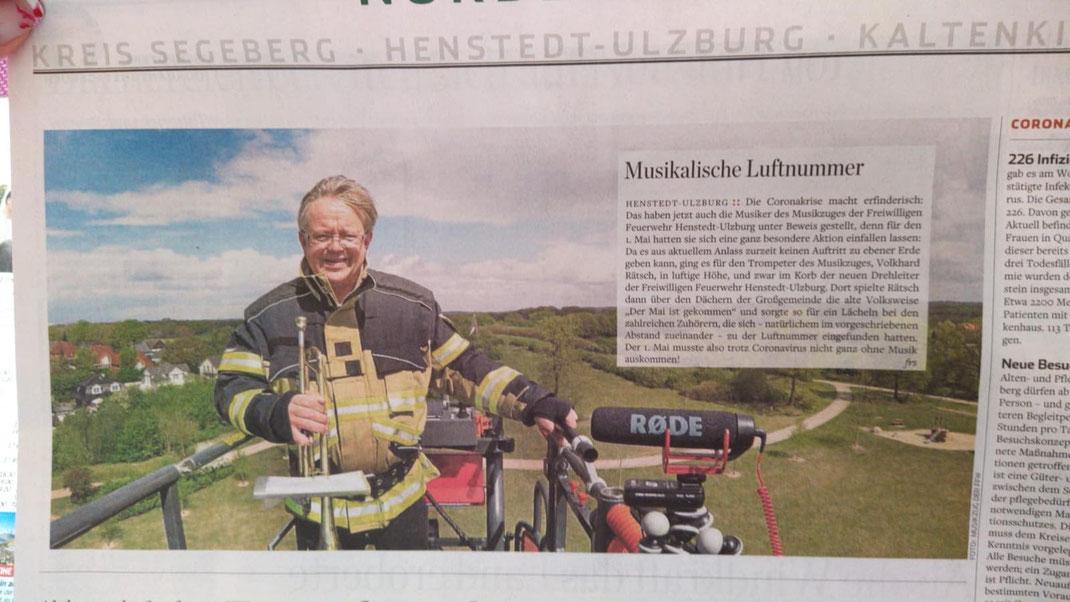 Artikel im Hamburger Abendblatt zum Blasorchester Henstedt-Ulzburg
