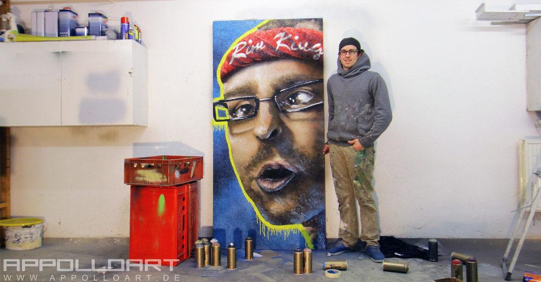 Graffitikünstler Innenraum im Zimmer auf wand gemalt