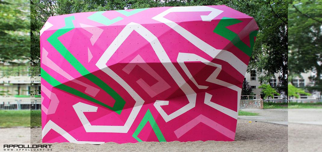 Graffitikunst im öffentlichen Raum Hauptstadt