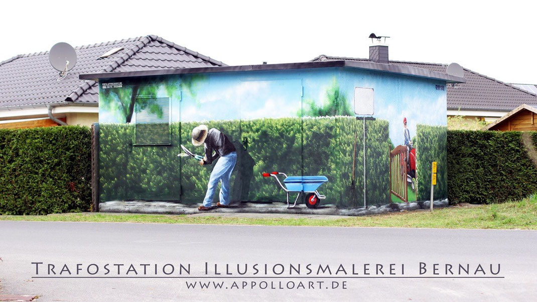 Bernau Malerei Landschaftsmalerei Imitation einer Hecke Pflanzen Obst gemüse