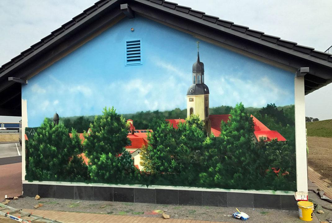 Graffiti an der Hauswand für Gewerbetreibende Auftragskunst im 3d Airbrush Bayern Dresden
