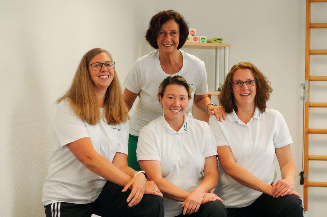 Mein Team: Tanja, Carina und Kirsten (vorne von links).