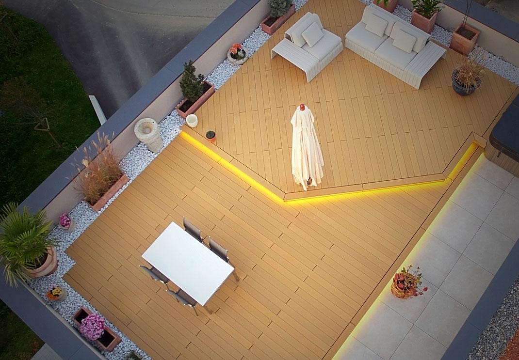 Terrassenboden Aussenbereich - Holzimitate WPC