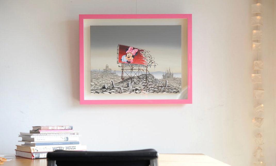 "Jeff Gillette(ジェフ・ジレット)""Minnie Hiroshima""の額装画像"