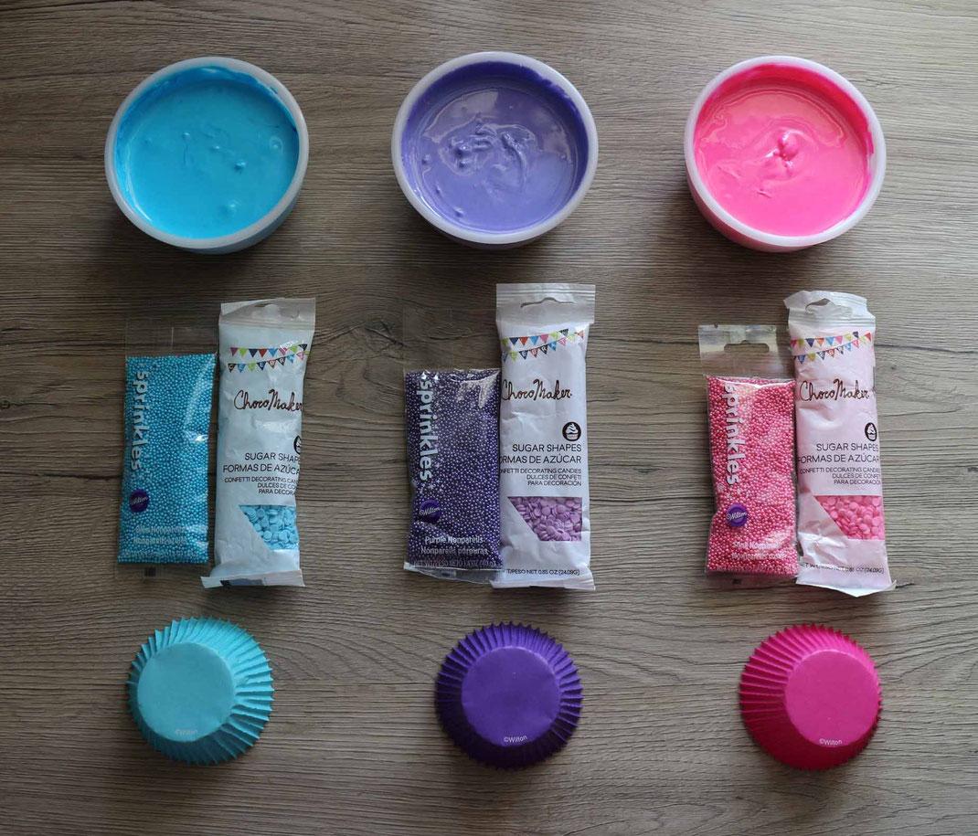 supplies for balloon cupcakes