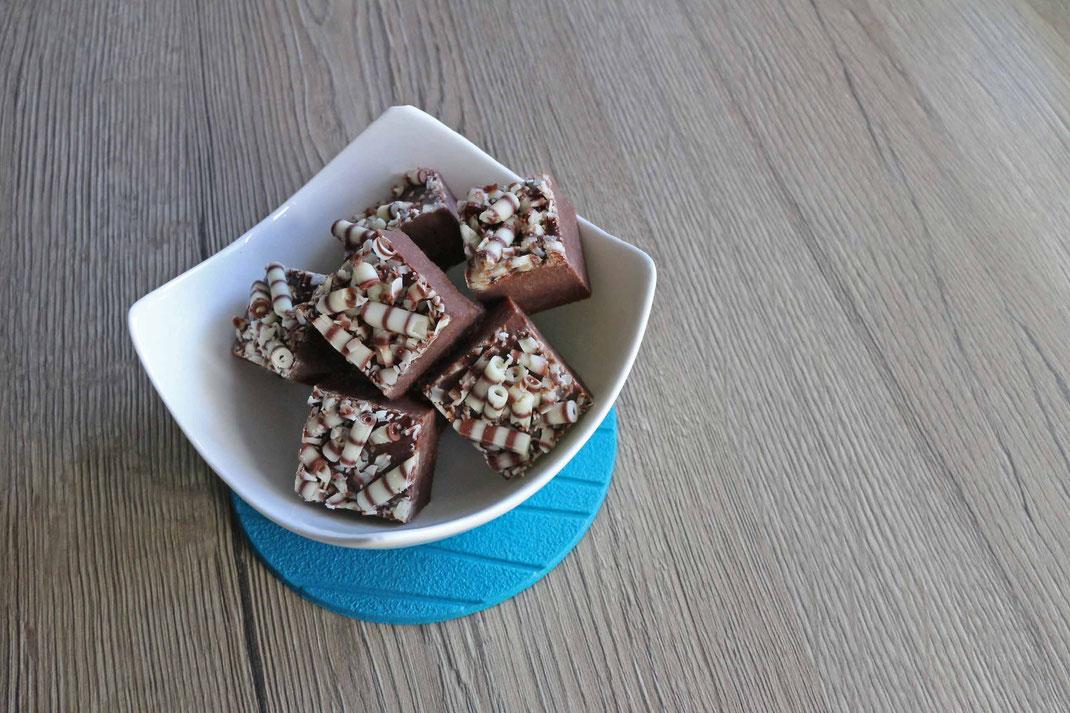 Cranberry Fudge mit weißer Schokolade