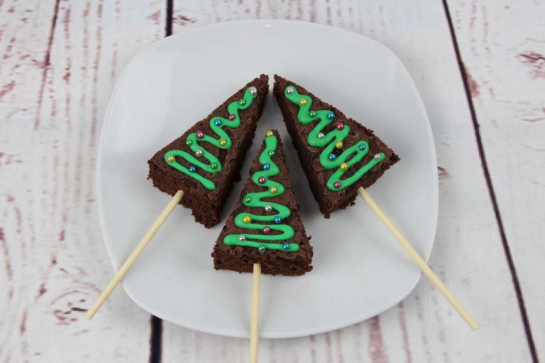 Christbaum Brownies
