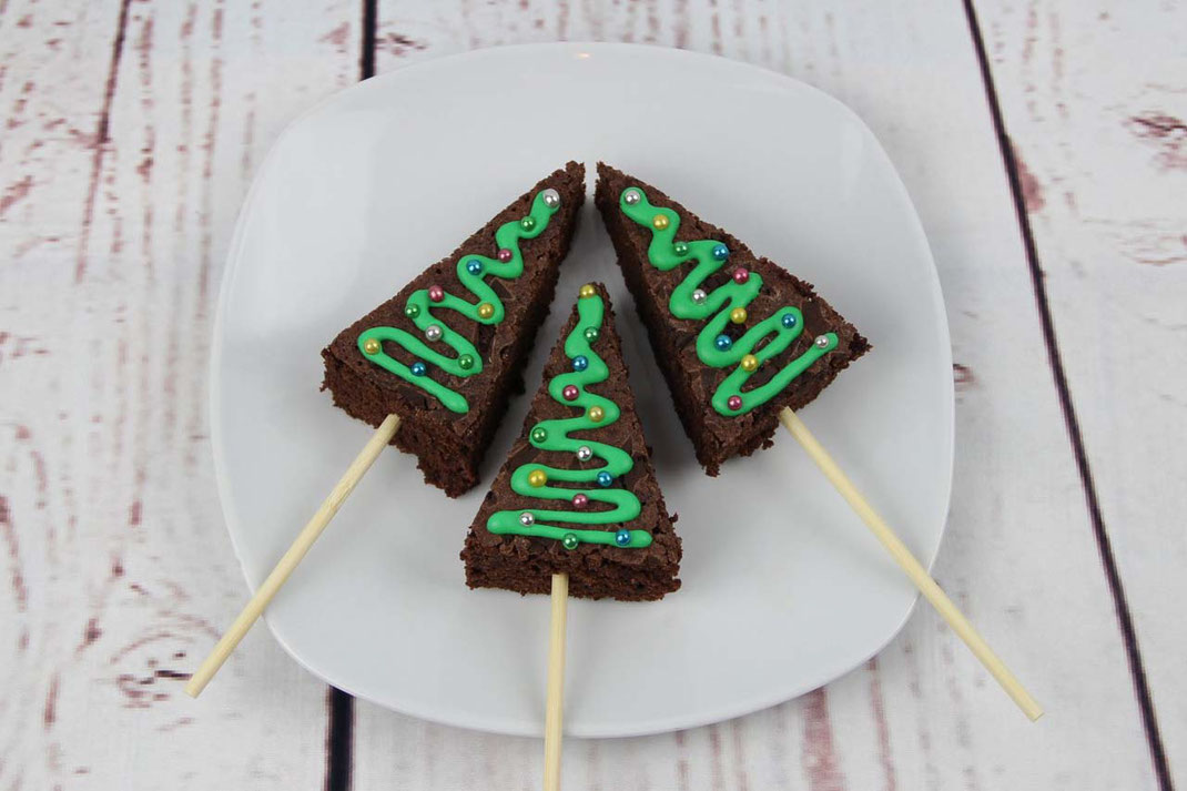 Christbaum Brownies
