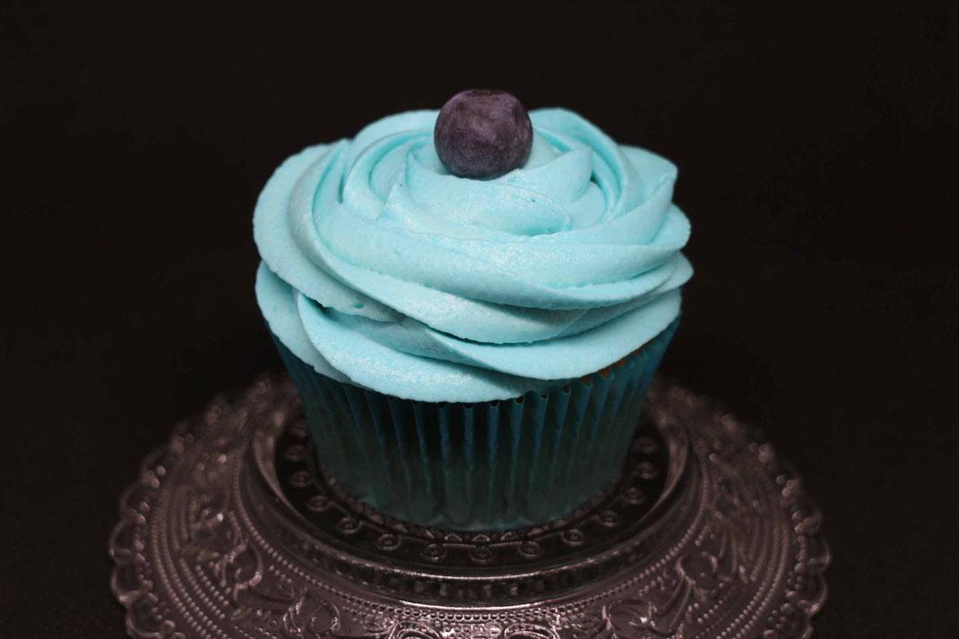 Blaubeer-Cupcake