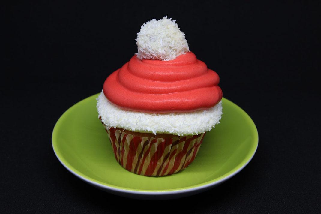Santa Mützen Cupcakes