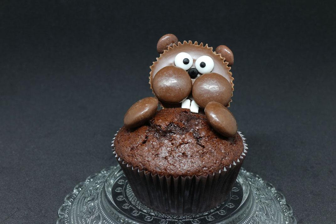 so süße Biber-Cupcakes