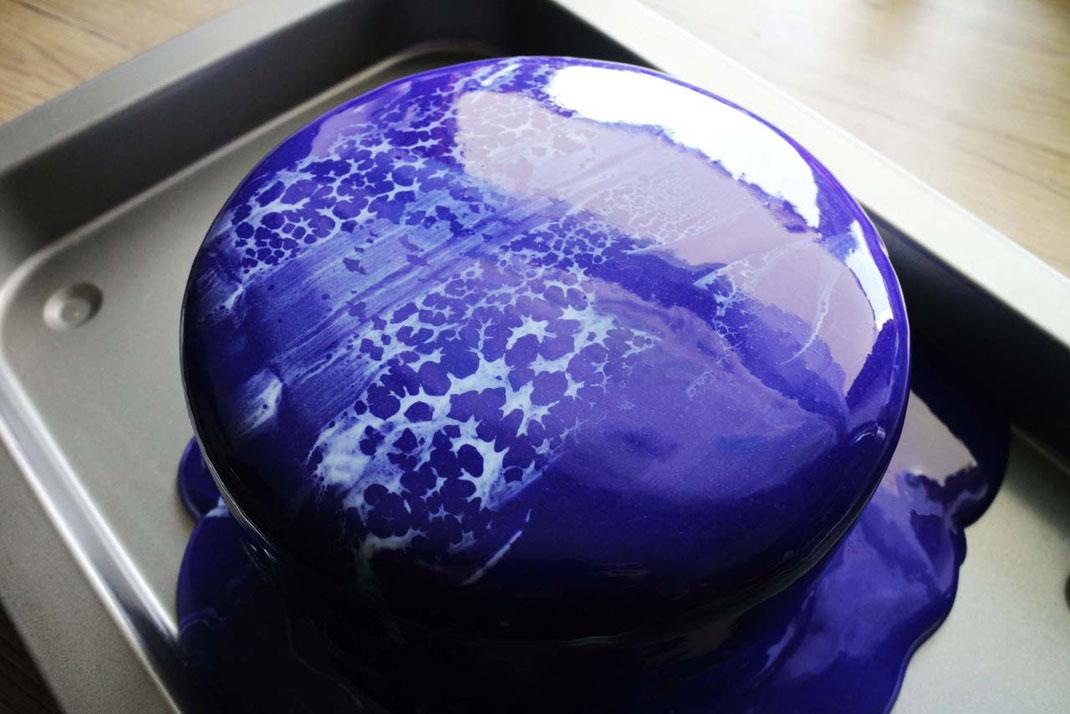 Leopard oder Spiderweb Mirror Glaze