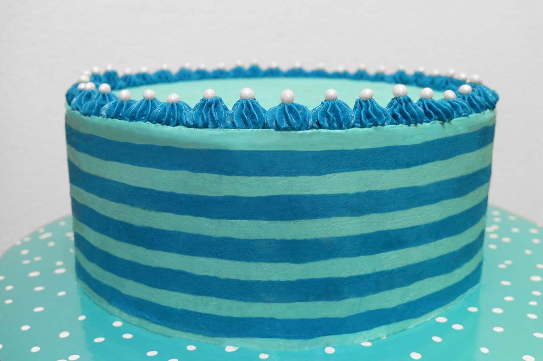 buttercream stripes