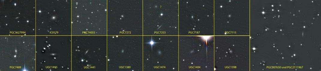 Auf dem Bild sicher identifizierte Hintergrundgalaxien