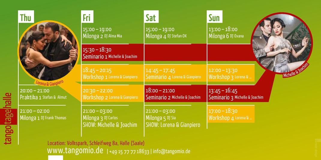 Programm, 16. TangoTageHalle 2019, Tango-Festival, Halle (Saale), Germany