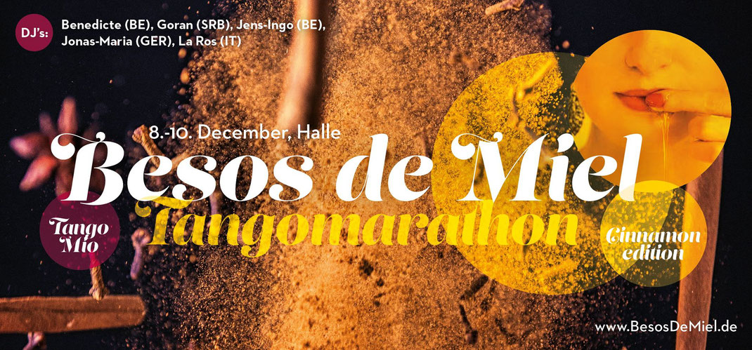 Besos de Miel Tangomarathon 2017 | cinnamon edition | december 8-10 | halle [germany]