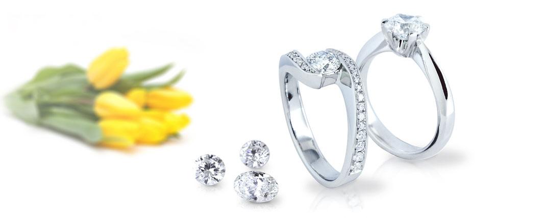 Faire Verlobungsringe online, individuell von Hand gefertigt aus fairem Gold und Platin GOLDSCHMIEDE NIKL | WIEN