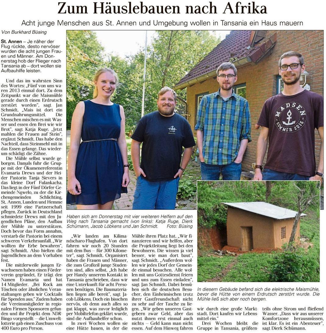 Ein Verein, der sich für tansanisch-deutsch Entwicklungszusammenarbeit einsetzt.