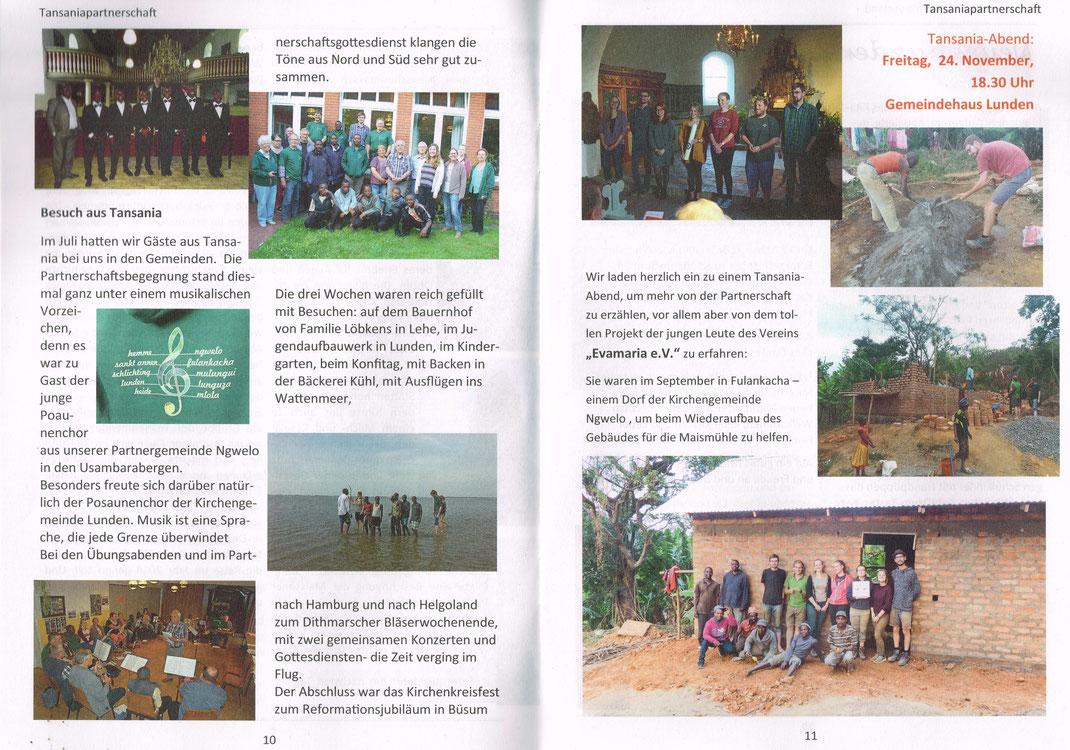 Informationen zur Entwicklungszusammenarbeit zwischen Gemeinden in Deutschland und Tansania.