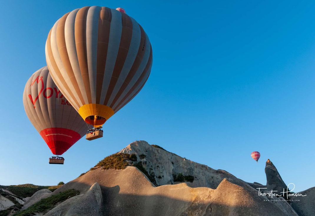 Meine Ballon Fahrten in Kappadokien Türkei -  Bis zu 100 Ballons schweben gleichzeitig über die einzigartige Landschaft Kappadokiens - Türkei - Ballon fahren
