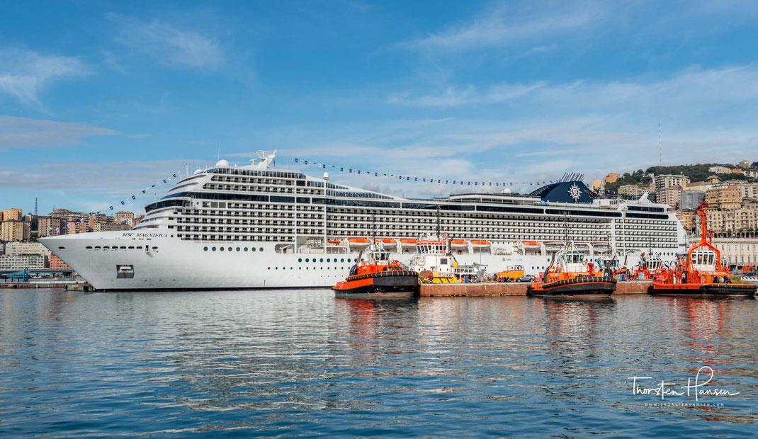 Unterwegs mit dem Reiseleiter Thorsten Hansen auf den Kreuzfahrtschiffen von MSC. Mittelmeer, Italien, Malta, Griechenland. MSC Magnifica.