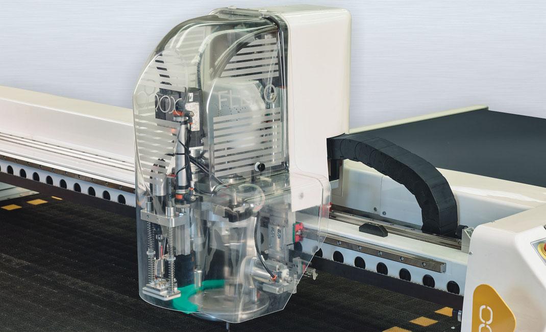 OROX Italy | Flexo Falcon macchina da taglio | immagine della testa