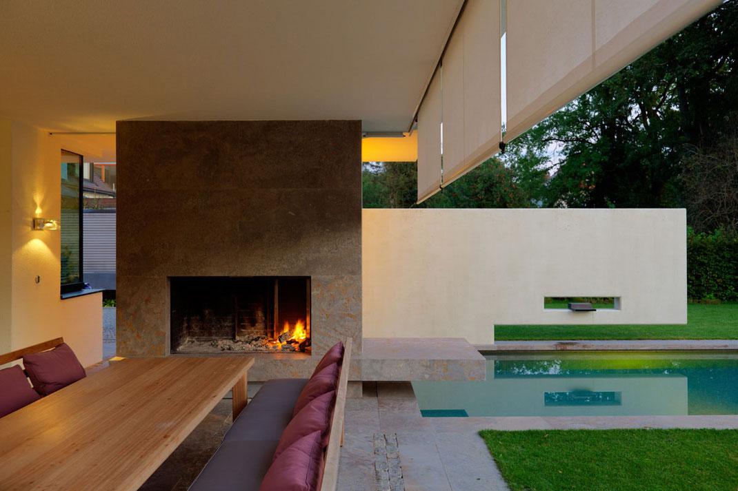 Architektenhaus, Detail Terrasse, Architektur von Stephan Maria Lang