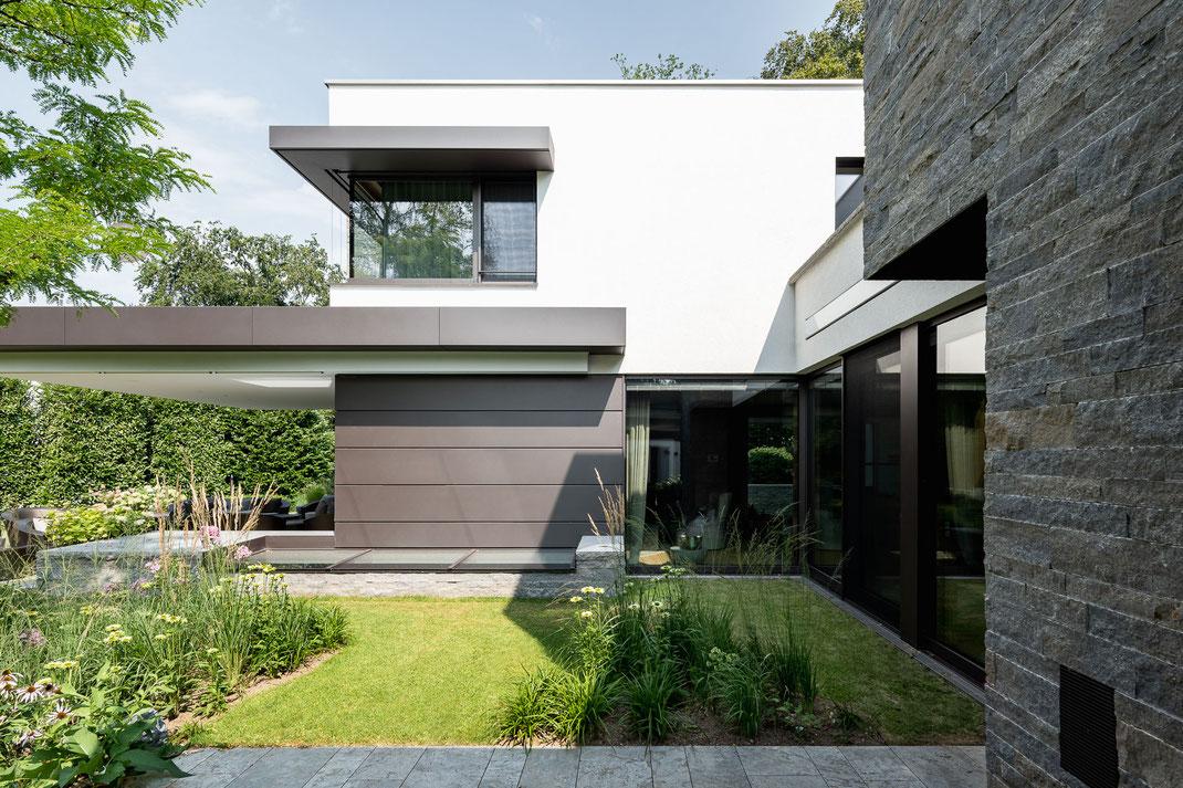 Architektenhaus, Detail Garten, Architektur von Stephan Maria Lang